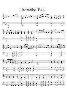 november rain piano sheet music pdf