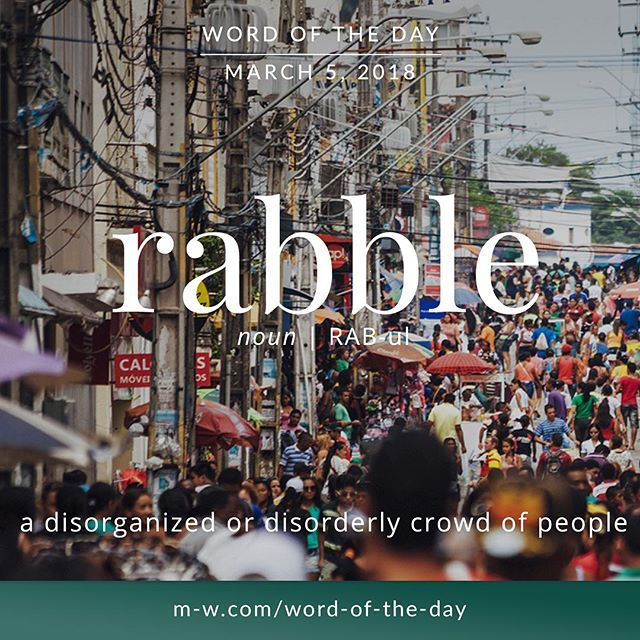 rabble definition dictionary