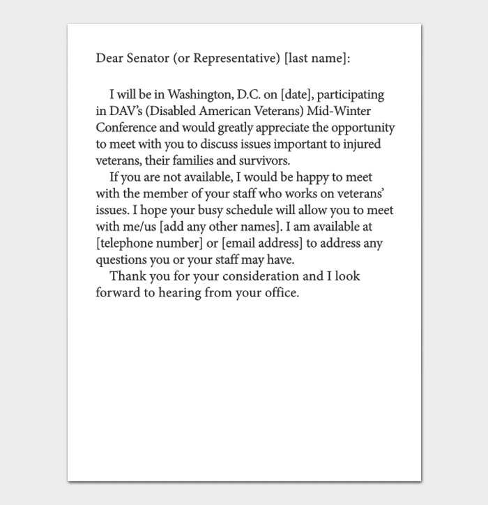sample letter requesting appointment business meeting