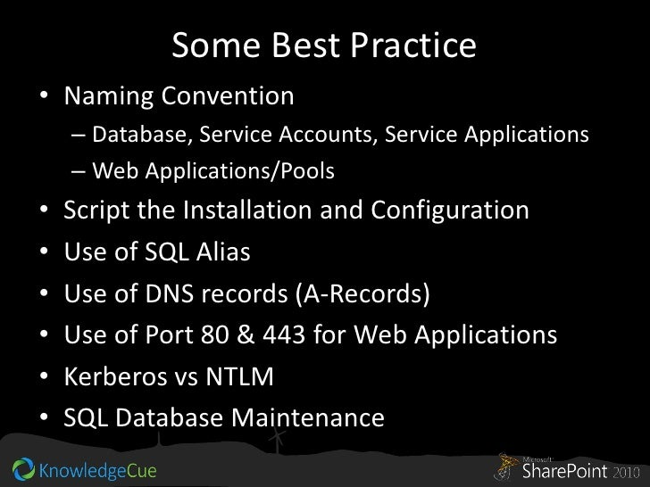 sql server best practice application pools
