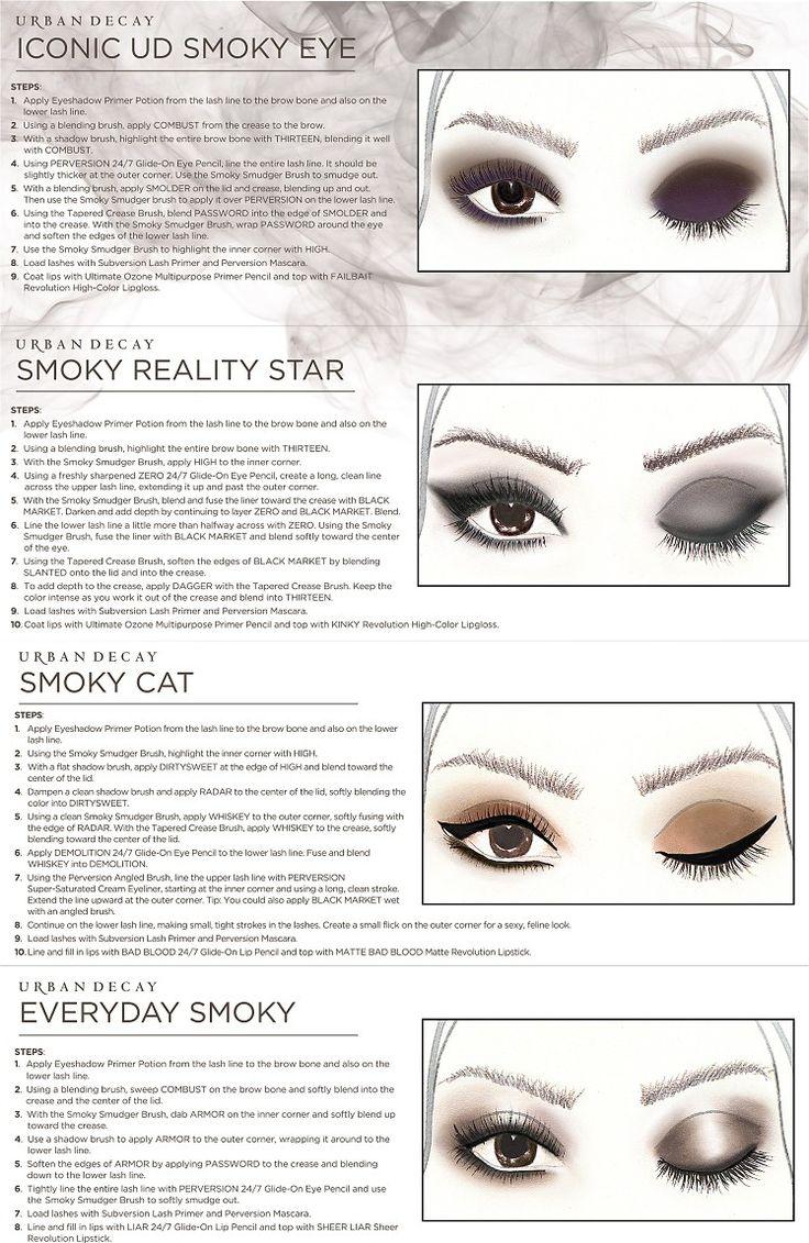 smokey eye palette with instructions