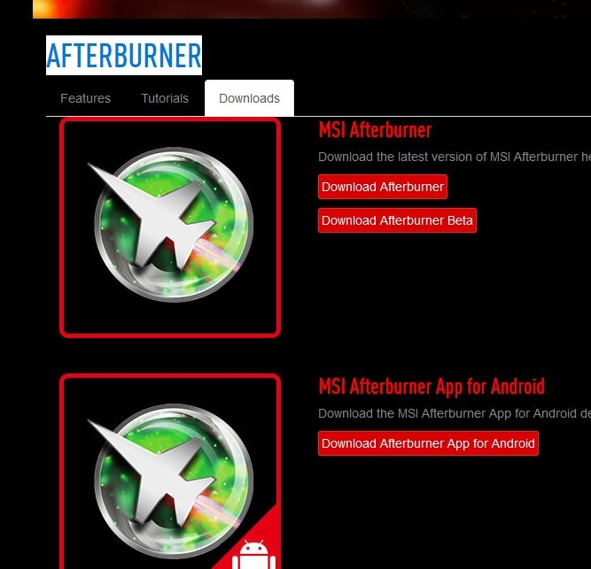 msi afterburner user guide