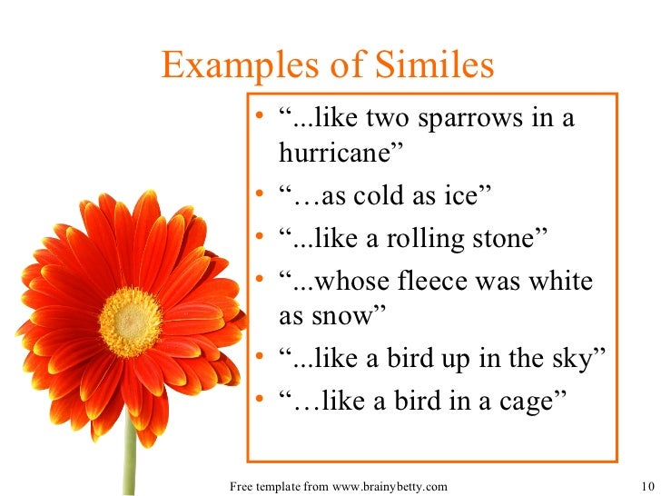 simile definition dictionary