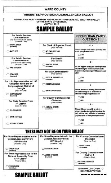 sample ballot barrow county ga