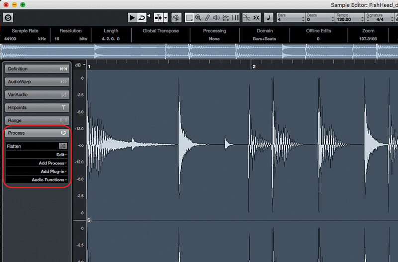 sample tempo cubase