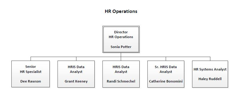 sample organization structure for hrm