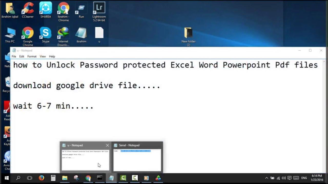 unlock password protected pdf