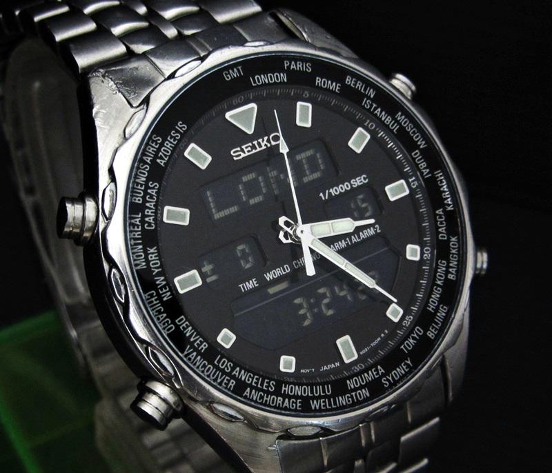 seiko chronograph manual