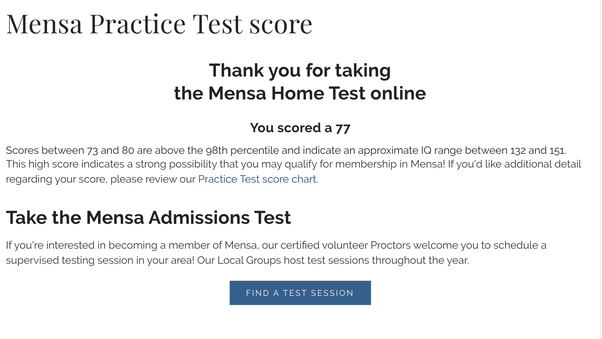 try a sample mensa test