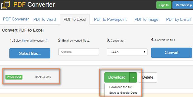 nitro convert excel to pdf