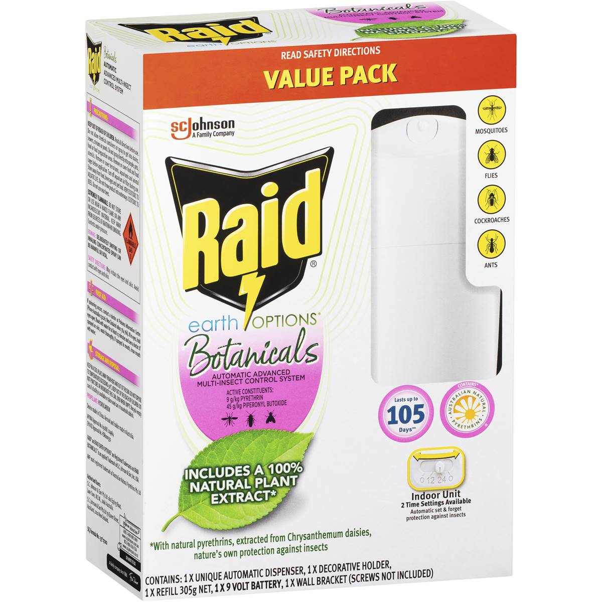 raid automatic insect control system instructions