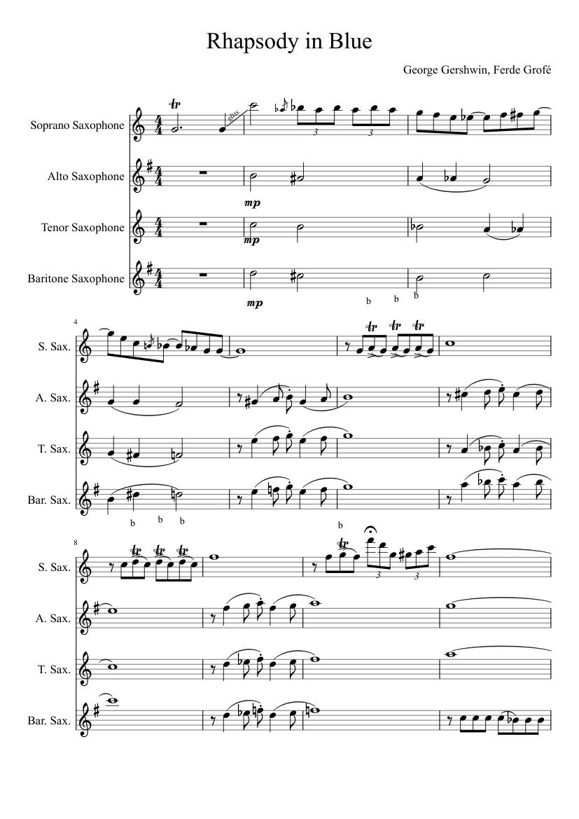 rhapsody in blue piano sheet pdf