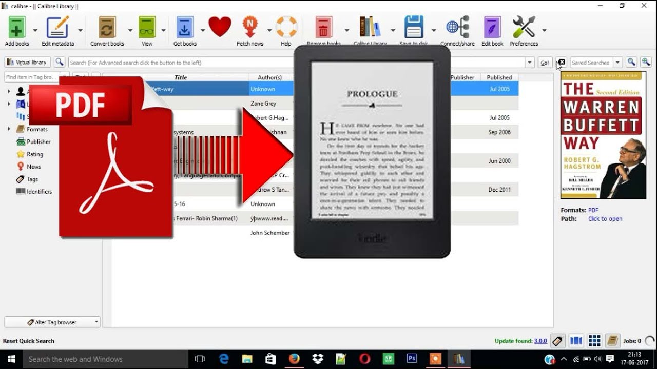 pdf in kindle format