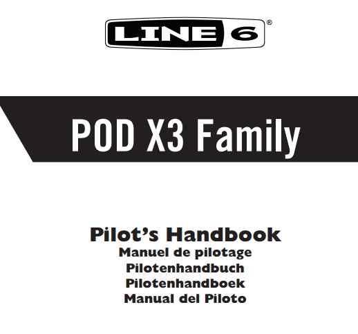 pod x3 live manual