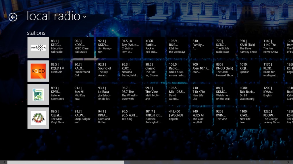 radio application for windows
