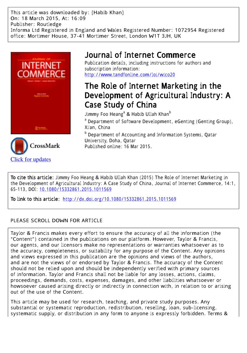 role of internet in marketing pdf