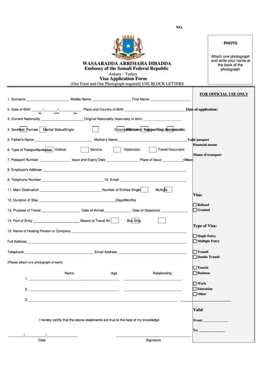 turkish embassy islamabad visa application form