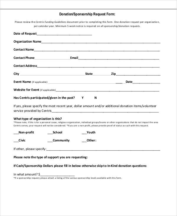 sponsorship request letter sample nz