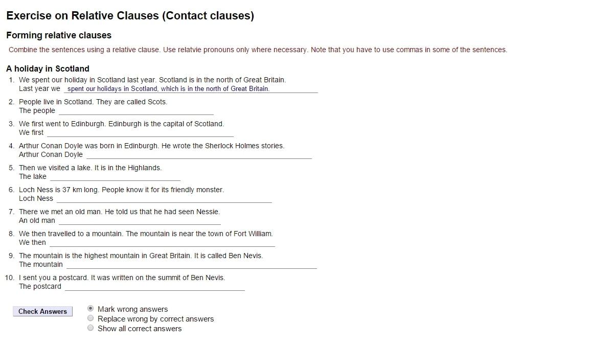 noun phrases containing relative clauses exercises pdf