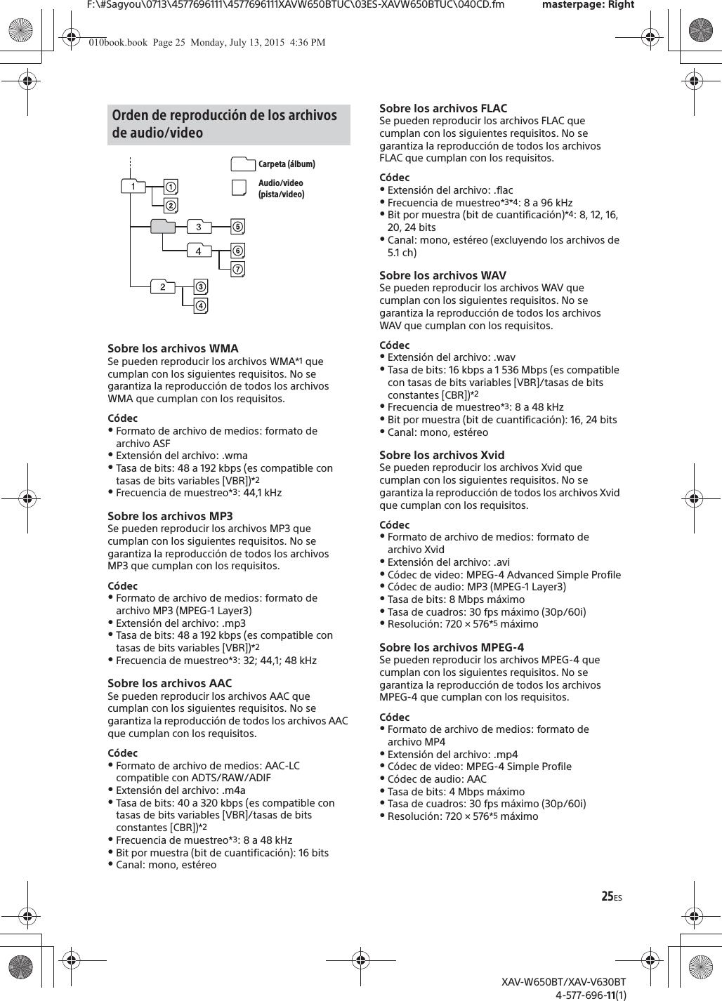 xav v630bt manual