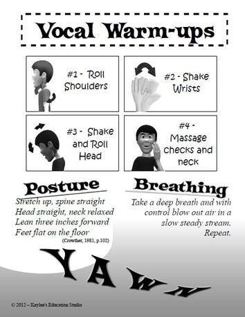 vocal warm up exercises pdf