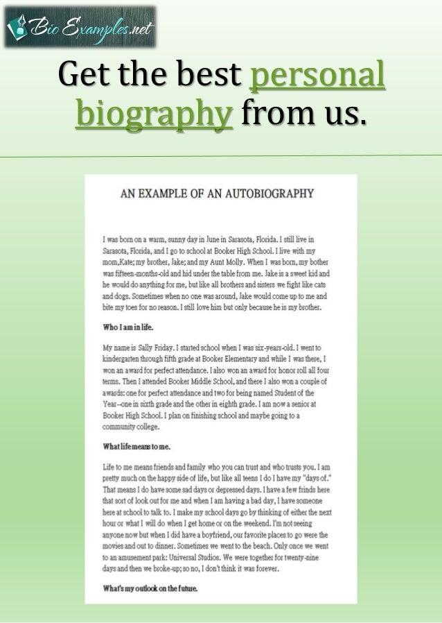 my biography sample