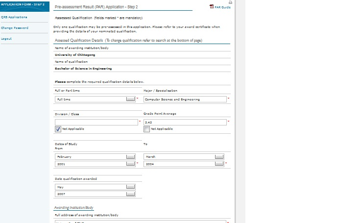 nzqa application
