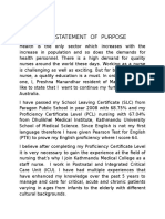 study abroad statement of purpose sample