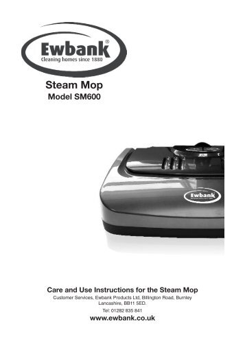 optim plus steam mop instruction manual