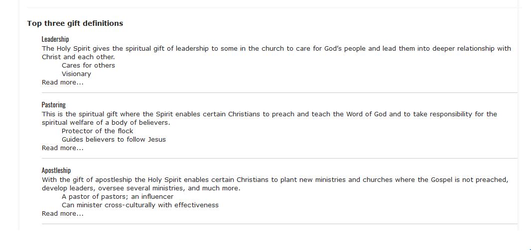 spiritual gifts test pdf