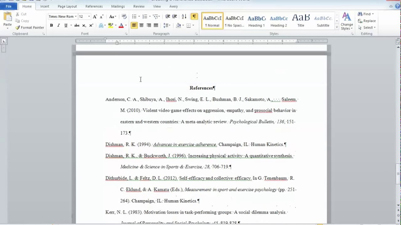 sample apa referencing with &