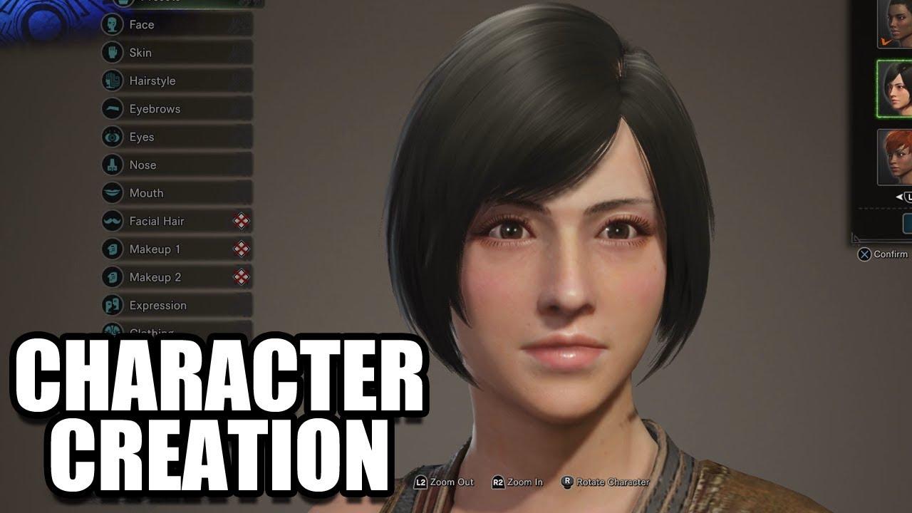 monster hunter world character creator guide