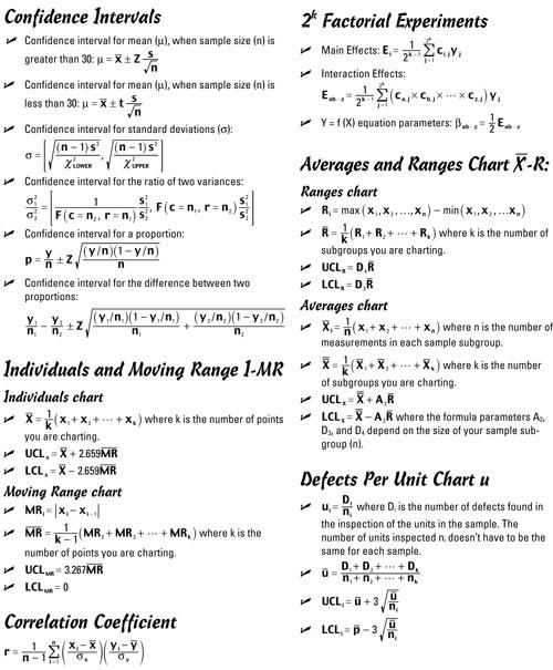 six sigma formula pdf