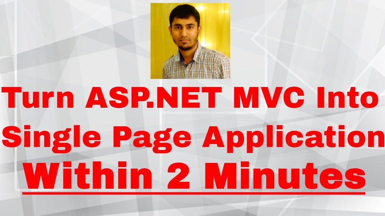 single page application vs mvc
