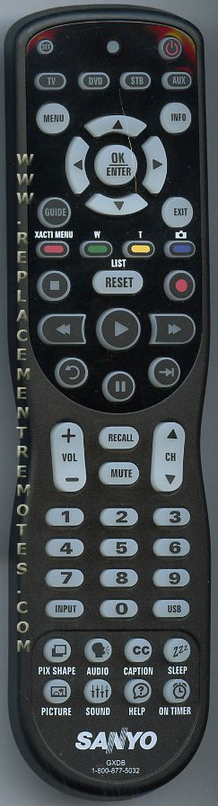 sanyo tv remote control manual