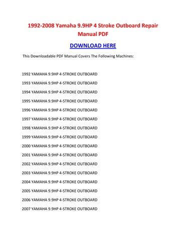 yamaha outboard catalog pdf