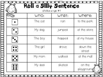 silly sentences pdf