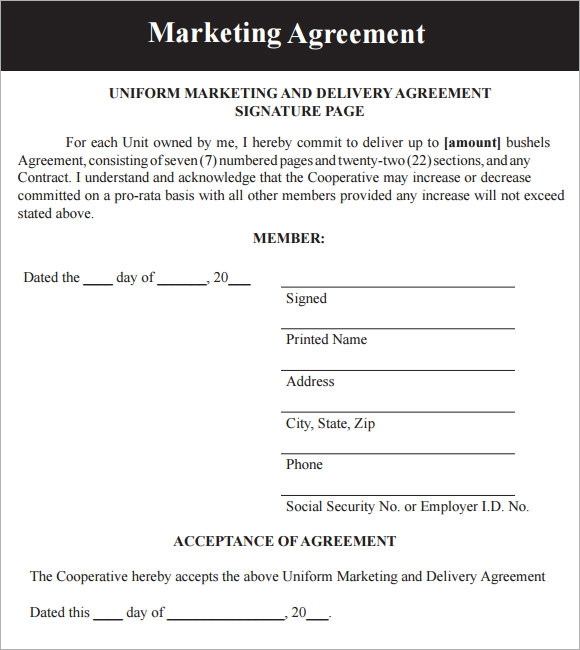 simple marketing contract pdf