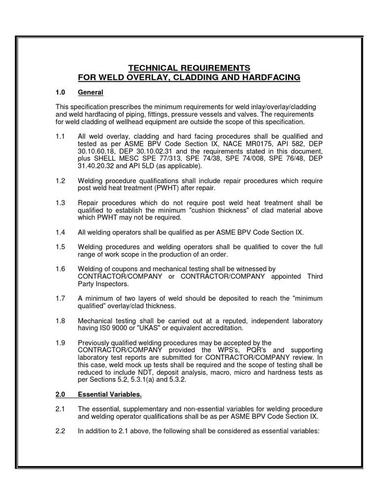 weld repair procedure pdf