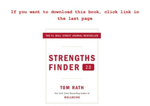 strengthsfinder 2.0 full pdf free download