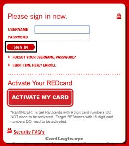 target credit card application