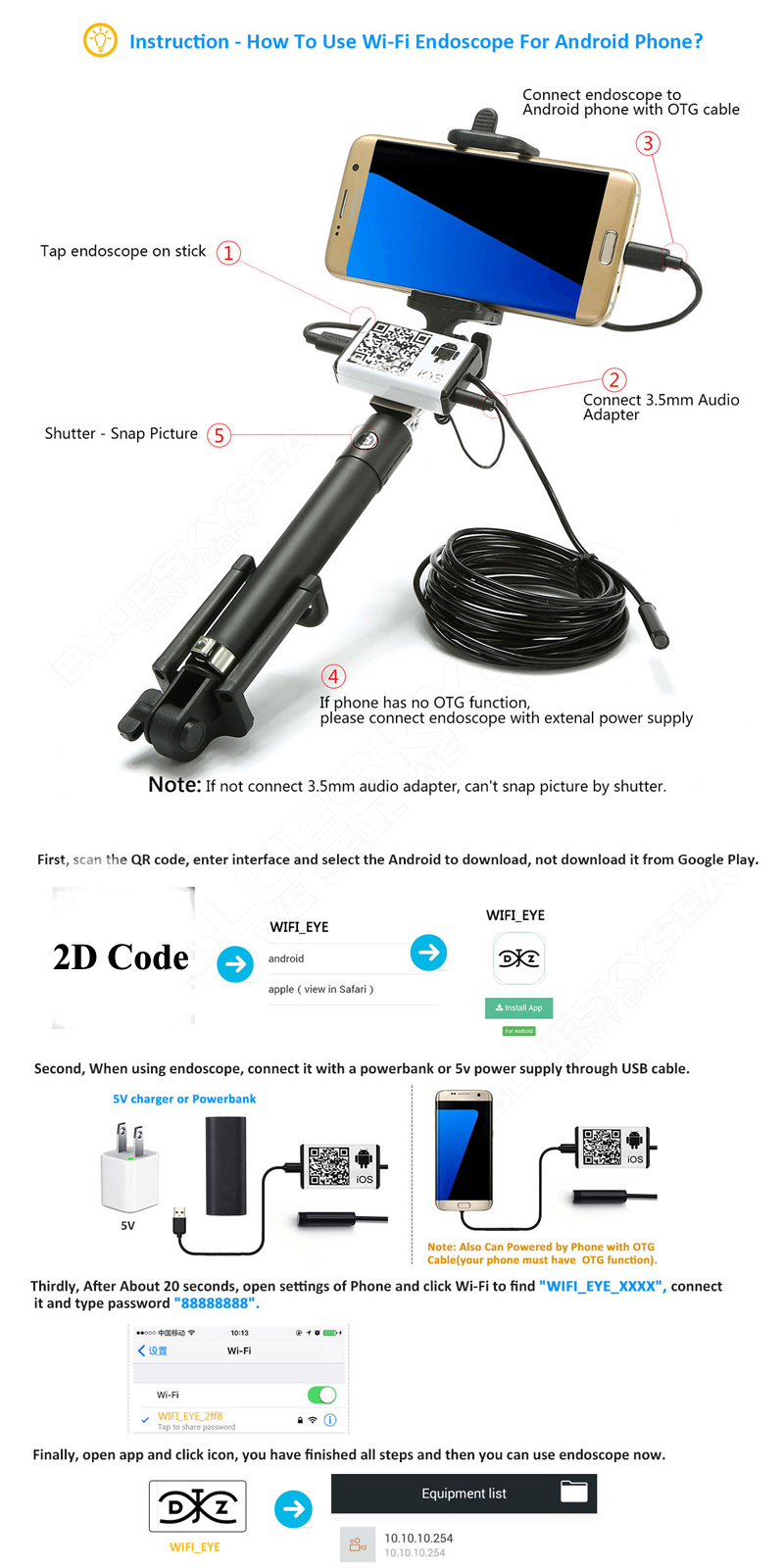 wifi endoscope instructions