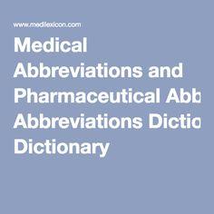 medical symbols dictionary