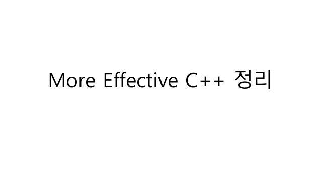 more effective c++ pdf