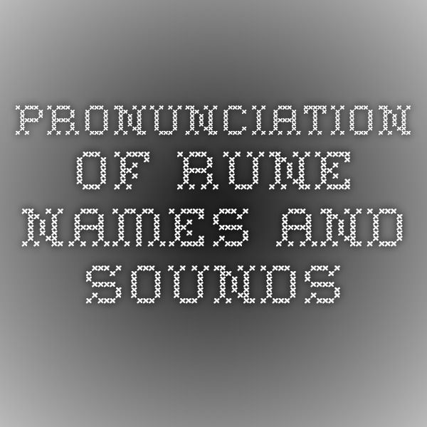 pronunciation guide for names