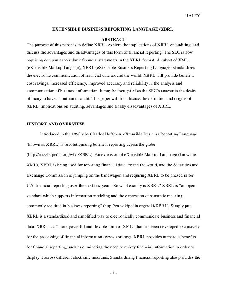 sample accounting research paper