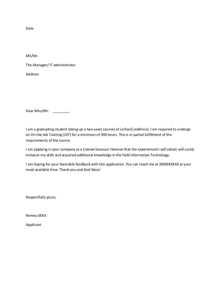 sample letter for tourism