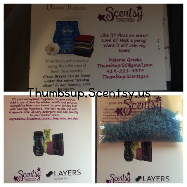 scentsy sample card