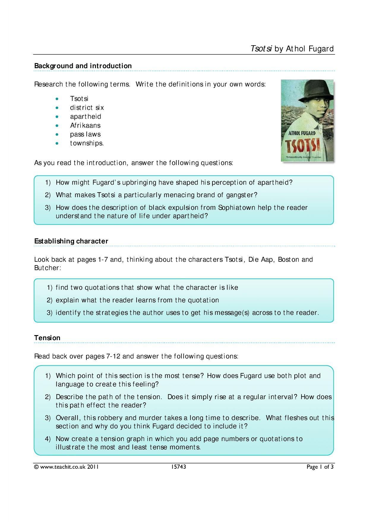 tsotsi themes pdf