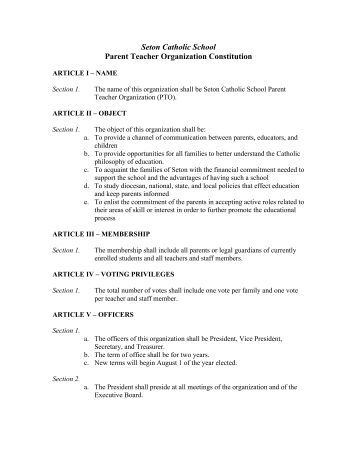sample constitution for an organization